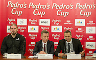 (L-R) Tomasz Majewski and Krzysztof Klimczak and Sebastian Chmara during press conference before athletics meeting Pedro's Cup 2014 at Press Centre of Polish Press Agency in Warsaw, Poland.<br /> <br /> Poland, Warsaw, January 14, 2014.<br /> <br /> Picture also available in RAW (NEF) or TIFF format on special request.<br /> <br /> For editorial use only. Any commercial or promotional use requires permission.<br /> <br /> Mandatory credit:<br /> Photo by © Adam Nurkiewicz / Mediasport
