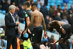 Dejected Crystal Palace players walk past manager Roy Hodgson at full time - Mandatory by-line: Matt McNulty/JMP - 23/09/2017 - FOOTBALL - Etihad Stadium - Manchester, England - Manchester City v Crystal Palace - Premier League