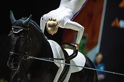 Joanne Eccles, (GBR), WH Bentley, John Eccles - Individuals Women Compulsory Vaulting - Alltech FEI World Equestrian Games™ 2014 - Normandy, France.<br /> © Hippo Foto Team - Jon Stroud<br /> 02/09/2014