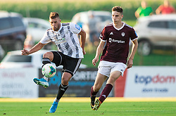 Amadej Maroša of Mura vs Žan Kumer of Triglav during football match between NK Triglav and NS Mura in 5th Round of Prva liga Telekom Slovenije 2019/20, on August 10, 2019 in Sports park, Kranj, Slovenia. Photo by Vid Ponikvar / Sportida