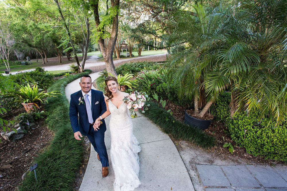 Prem Paul Murrhee and Danielle Eddy  marry at Kanapaha Botanical Gardens in Gainesville, Florid.a