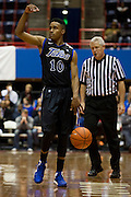 DALLAS, TX - JANUARY 6:  James Woodard #10 of the Tulsa Golden Hurricane brings the ball up the court against the SMU Mustangs on January 6, 2013 at Moody Coliseum in Dallas, Texas.  (Photo by Cooper Neill/Getty Images) *** Local Caption *** James Woodard
