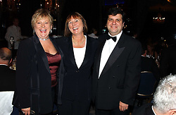 Left to right, actress JULIA GOODMAN, KATHY MORRIS and JONATHAN CREGO at the Dyslexia Awards Dinner 2004 held at The Dorchester, Park Lane, London on 2nd November 2004.<br /><br />NON EXCLUSIVE - WORLD RIGHTS