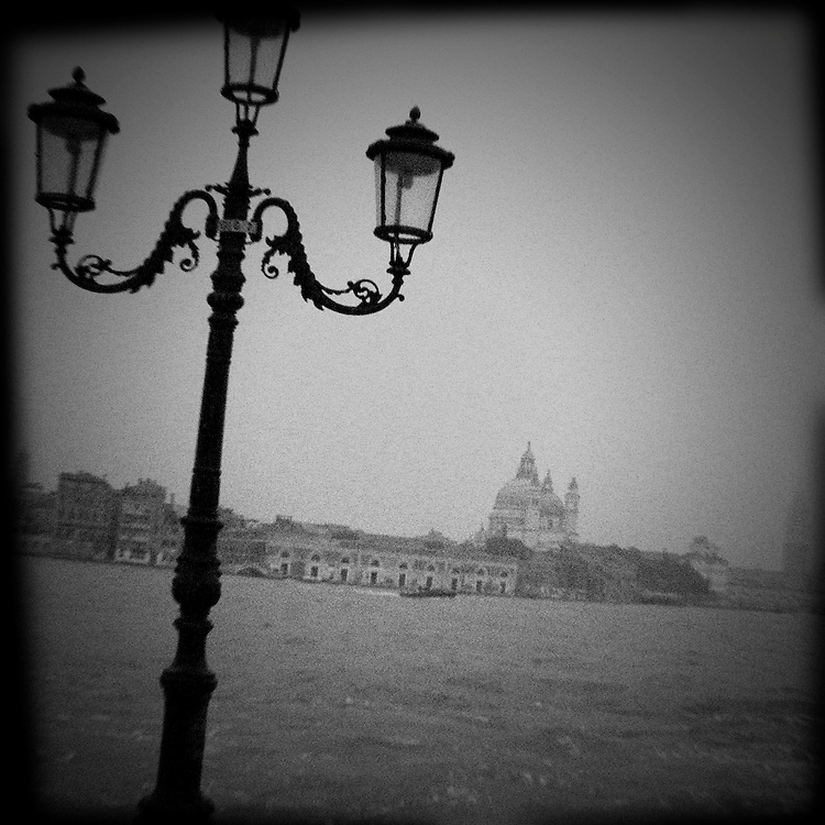 Venetia Obscura a dark view of Venice (Venezia) Italy with strong iconic images in Black and White