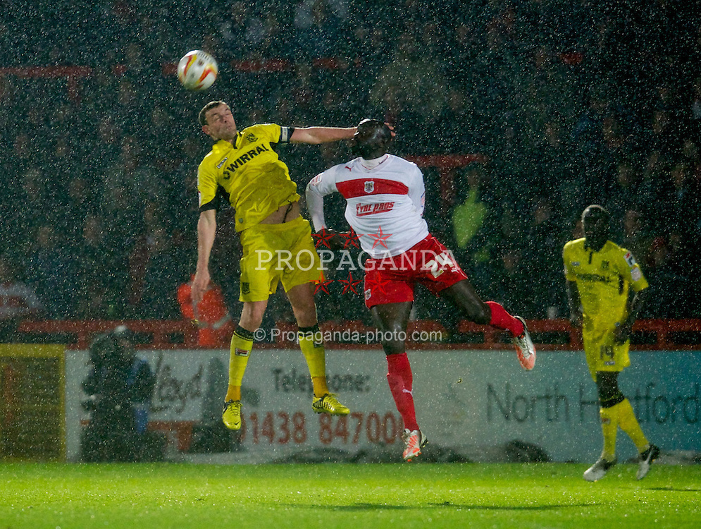 STEVENAGE, ENGLAND - Saturday, November 24, 2012: Tranmere Rovers' captain James Wallace in action against Stevenage during the Football League One match at Broadhall Way. (Pic by David Rawcliffe/Propaganda)