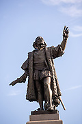 Christopher Columbus statue in Grant Park in Chicago USA