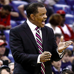 Feb 6, 2017; New Orleans, LA, USA; New Orleans Pelicans head coach Alvin Gentry during the fourth quarter of a game against the Phoenix Suns at the Smoothie King Center. The Pelicans defeated the Suns 111-106. Mandatory Credit: Derick E. Hingle-USA TODAY Sports