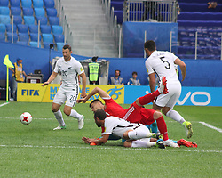 June 17, 2017 - Saint Petersburg - Of The Russian Federation. Saint-Petersburg. Arena Saint-Petersburg. Confederations Cup 2017 in Russia. Football the opening match of the Confederations Cup Russia - New Zealand. FIFA. Russia striker Dmitry Poloz. (Credit Image: © Russian Look via ZUMA Wire)