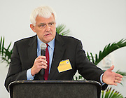 Dr. James Benfield comments during The Rusk School ribbon cutting ceremony, April 7, 2014.