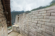 Inca built wall at Machu Picchu.