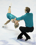 London, Ontario ---10-01-15--- Anabelle Langlois and Cody Hay skate their short program at the 2010 BMO Canadian Figure Skating Championships in London, Ontario, January 15, 2010. .GEOFF ROBINS/Mundo Sport Images..