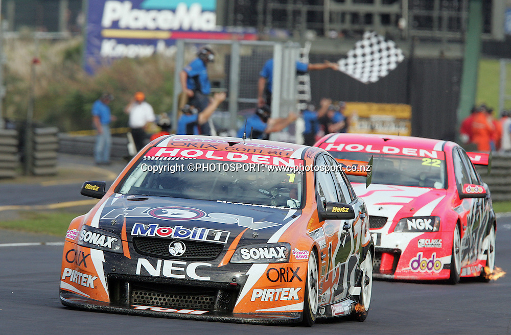 Toll HSV Dealer Team's Rick Kelly wins the third race and the overall series win after Race 3 at the Placemaker V8 Supercars in Pukekohe, New Zealand, on Sunday 22 April 2007. Toll HSV Dealer Team's Rick Kelly won race 3 and the series. Photo: Michael Bradley/PHOTOSPORT