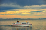Passenger ferry in Bay of Fundy<br />Grand Manan Island<br />New Brunswick<br />Canada
