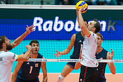 09-08-2019 NED: FIVB Tokyo Volleyball Qualification 2019 / Belgium 0 USA, Rotterdam<br /> First match pool B in hall Ahoy between Belgium vs. USA (1-3) for one Olympic ticket / Stijn D'hulst #4 of Belgium