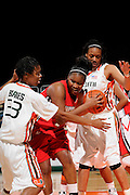 January 22, 2009: Bonae Holston of the North Carolina State Wolfpack in action during the NCAA basketball game between the Miami Hurricanes and the North Carolina State Wolfpack. The 'Canes defeated the Wolfpack 72-60.