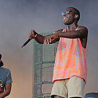 WESTON PARK, UK:.Tinie Tempah on the Virgin Media stage at the V Festival on Saturday afternoon, 18th August 2012..PHOTOGRAPH BY TERRY KANE / BARCROFT MEDIA LTD..UK Office, London..T: +44 845 370 2233.E: pictures@barcroftmedia.com.W: www.barcroftmedia.com..Australasian & Pacific Rim Office, Melbourne..E: info@barcroftpacific.com.T: +613 9510 3188 or +613 9510 0688.W: www.barcroftpacific.com..Indian Office, Delhi..T: +91 997 1133 889.W: www.barcroftindia.com
