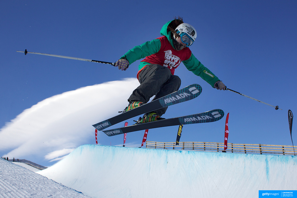 Devin Logan, USA, in action while winning the Women's Halfpipe Finals during The North Face Freeski Open at Snow Park, Wanaka, New Zealand, 3rd September 2011. Photo Tim Clayton...