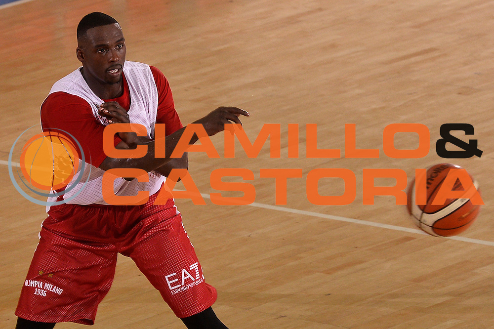 Rakim Sanders <br /> EA7 Emporio Armani Olimpia Milano allenamento<br /> Lega Basket Serie A 2016/2017<br /> Bormio 25/08/2016<br /> Foto Ciamillo-Castoria