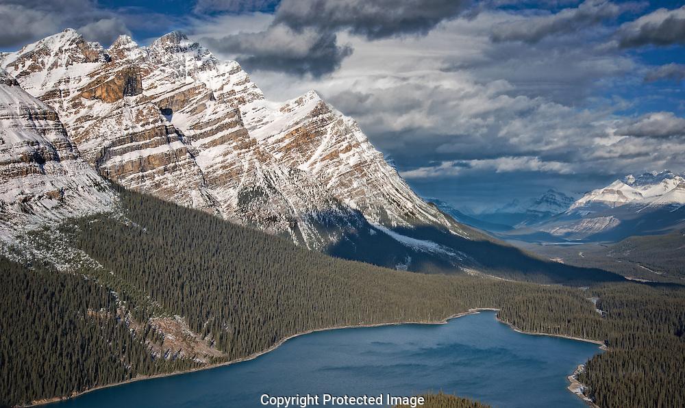 Peyto Lake from Bow Summit., Alberta, Canada, Isobel Springett