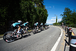 Eurotarget Bianchi Vitasana at Giro Rosa 2018 - Stage 1, a 15.5 km team time trial in Verbania, Italy on July 6, 2018. Photo by Sean Robinson/velofocus.com