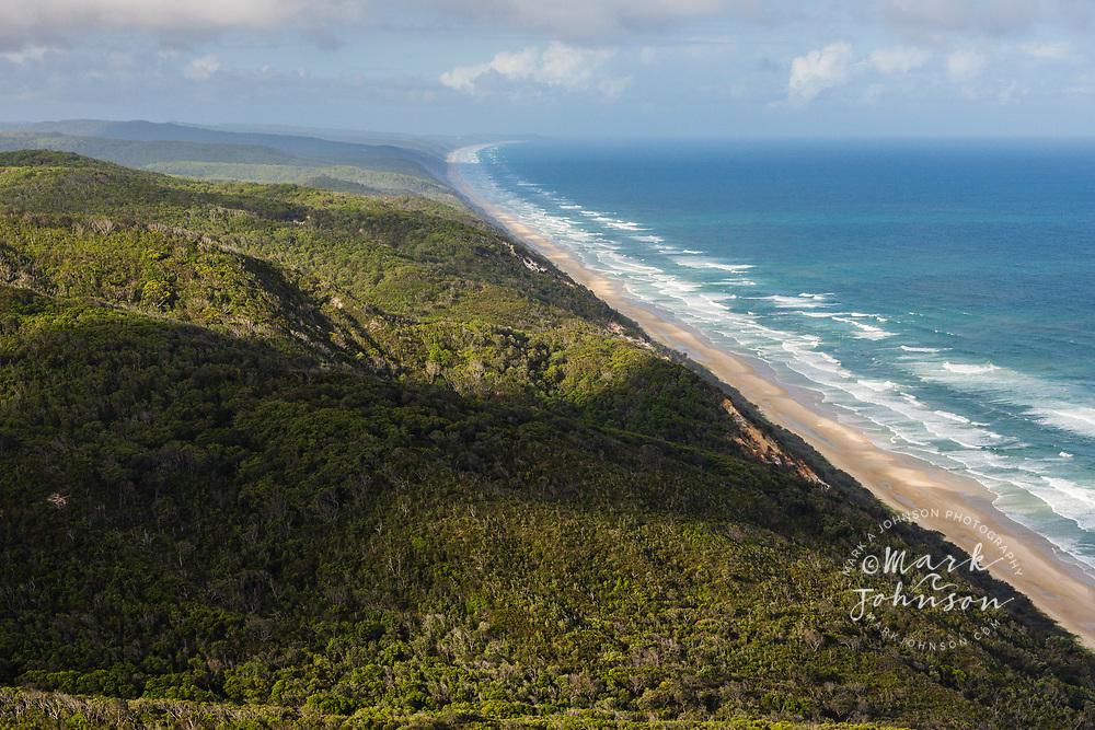 Aerial photograph of Great Sandy National Park, Sunshine Coast, Queensland, Australia