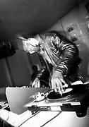 Hip hop DJ on the decks, UK, 1990's