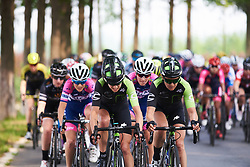 Marcella Toldi (BRA) and Holly Breck (USA) lead the chase at Tour of Chongming Island 2018 - Stage 2, a 121.3km road race from Changxing Fenghuang Park to Chongming Island on April 27, 2018. Photo by Sean Robinson/Velofocus.com