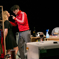 Touch by Vicky Jones,<br /> Amy Morgan as Dee,<br /> Edward Bluemel as Paddy,<br /> Directed by Vicky Jones,<br /> Soho Theatre, London.<br /> 11 July 2017.<br />