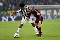 23.11.2017 - Torino - Champions League   -  Juventus-Barcellona nella  foto: Juan Cuadrado e Andres Iniesta
