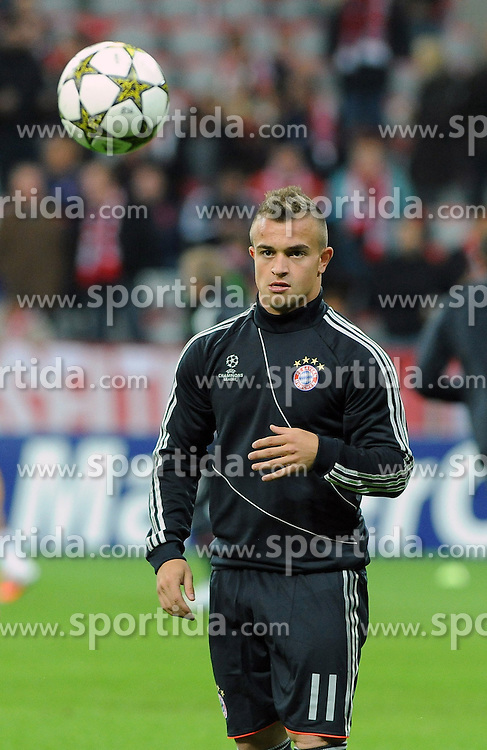 19.09.2012, Allianz Arena, Muenchen, GER, UEFA Champions League, FC Bayern Muenchen vs FC Valencia, Gruppe F, im Bild Xherdan SHAQIRI (FC Bayern Muenchen), Freisteller // during the UEFA Champions League group F match between FC Bayern Munich and Valencia CF at the Allianz Arena, Munich, Germany on 2012/09/19. EXPA Pictures © 2012, PhotoCredit: EXPA/ Eibner/ Wolfgang Stuetzle..***** ATTENTION - OUT OF GER *****