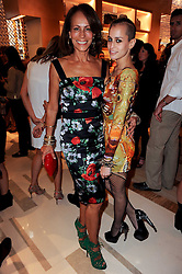 Left to right, ANDREA DELLAL and her daughter ALICE DELLAL at a party to celebrate the opening of the Louis Vuitton Bond Street Maison, New Bond Street, London on 25th May 2010.