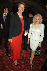 Lef to right, HRH PRINCESS KATARINA OF YUGOSLAVIA and MRS MARK SYKES at Eterna - The Sand of Gobi a fashion show featuring fashion from Mongolia to honour the official visit of the President of Mongolia to the UK held at Lancaster House, London on 16th April 2007.<br />