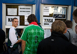 Slovenian fans buying tickets before the EuroBasket 2009 Semi-final match between Slovenia and Serbia, on September 19, 2009, in Arena Spodek, Katowice, Poland.  (Photo by Vid Ponikvar / Sportida)