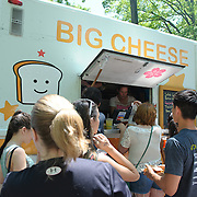 COLUMBIA, MD - May 11th, 2013 - Concert goers order food from the Big Cheese food truck at the 2013 Sweetlife Food and Music Festival at Merriweather Post Pavilion in Columbia, MD. (Photo by Kyle Gustafson / For The Washington Post)
