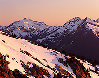 Evening over the North Cascades, Washington USA