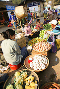 Myanmar, Bagan, vegetable market