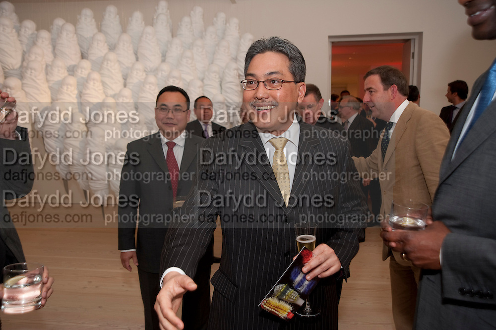 Yuri O Thamrin; Indonesian Ambassador, Indonesian Eye Contemporary Art Exhibition Reception, Saatchi Gallery. London. 9 September 2011. <br /> <br />  , -DO NOT ARCHIVE-© Copyright Photograph by Dafydd Jones. 248 Clapham Rd. London SW9 0PZ. Tel 0207 820 0771. www.dafjones.com.
