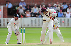 Craig Overton of Somerset is bowled.  - Mandatory by-line: Alex Davidson/JMP - 05/08/2016 - CRICKET - The Cooper Associates County Ground - Taunton, United Kingdom - Somerset v Durham - County Championship - Day 2