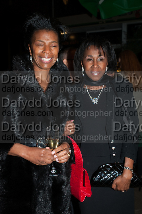 DIANE HENRY LEPART; THERESA ROBERTS, Fundraising Gala for the Zeitz foundation and Zoological Society of London hosted by Usain Bolt. . London Zoo. Regent's Park. London. 22 November 2012.