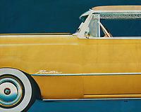 The Pontiac Chieftain is just about the most classic car that was driven around in the United States during the fifties of last eew. This painting of the side of the Pontiac gives by its simplicity and appearance a beautiful retro look. –<br />