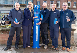 Youngsters paid tribute to one of Dumfries&rsquo; most celebrated former residents when they unveiled a new water refill tap in the town.<br /> <br /> The high tech Top Up Tap has been installed by Scottish Water as part of its national initiative to encourage people to carry a reusable bottle and stay hydrated on the go. <br /> <br /> Pictured: Scottish Water employees with the Top Up Tap