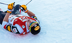 29.01.2017, Casino Arena, Seefeld, AUT, FIS Weltcup Nordische Kombination, Seefeld Triple, Langlauf, im Bild Mario Seidl (AUT) // Mario Seidl of Austria reacts after Cross Country Gundersen Race of the FIS Nordic Combined World Cup Seefeld Triple at the Casino Arena in Seefeld, Austria on 2017/01/29. EXPA Pictures © 2017, PhotoCredit: EXPA/ JFK
