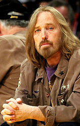 October 2, 2017 - Los Angeles, California, U.S - Monday, October 2, 2017. Tom Petty on life support at UCLA Medical Center Santa Monica after apparent heart attack in his Malibu, California home. FILE PHOTO: Tom Petty at the Los Angeles Lakers vs   Houston Rockets game at the Staples Center in Los Angeles, on Tuesday, January 3, 2012. (Credit Image: © Prensa Internacional via ZUMA Wire)