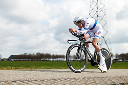 Ellen van Dijk (NED) on her way to winning Healthy Ageing Tour 2019 - Stage 4A, a 14.4km individual time trial starting and finishing in Winsum, Netherlands on April 13, 2019. Photo by Sean Robinson/velofocus.com
