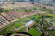 Nederland, Utrecht, Vleuten-De Meern, 15-07-2012; Leidsche Rijn, zicht Sportpark Alendorp..Sports park in a new residential district in Utrecht (central Netherlands)..luchtfoto (toeslag), aerial photo (additional fee required).foto/photo Siebe Swart