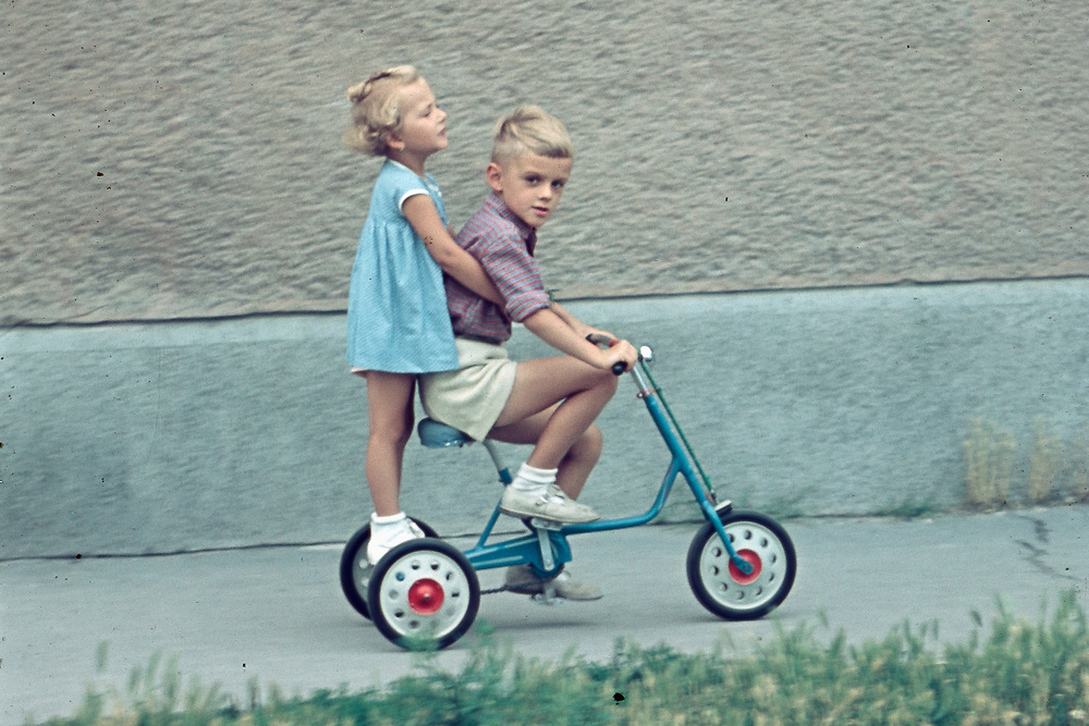 Dad with girl. Post War-Bratislava, Czechoslovakia