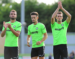 Forest Green Rovers players acknowledge fans before kick-off - Mandatory by-line: Nizaam Jones/JMP- 17/07/2018 - FOOTBALL - New Lawn Stadium - Nailsworth, England - Forest Green Rovers v Leeds United - Pre-season friendly