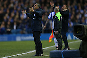 Brighton Manager, Chris Hughton during the Sky Bet Championship Play Off First Leg match between Sheffield Wednesday and Brighton and Hove Albion at Hillsborough, Sheffield, England on 13 May 2016.