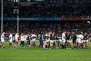 South Africa celebrates after winning the World Cup Japan 2019, Final rugby union match between England and South Africa on November 2, 2019 at International Stadium Yokohama in Yokohama, Japan - Photo Yuya Nagase / Photo Kishimoto / ProSportsImages / DPPI