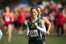 Anouk Morasse of the Sherbrooke Vert etOr runs in the women's  6K Dash at the 2013 CIS Cross Country Championships in London Ontario, Saturday,  November 9, 2013.<br /> Mundo Sport Images/ Geoff Robins